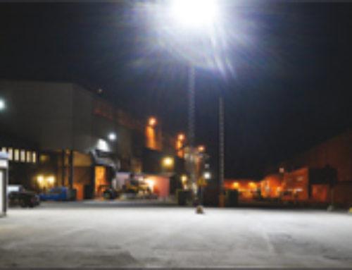 SSAB Oxelösund, utomhusbelysning med Titan och Modus