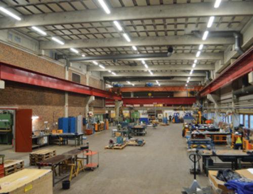 Södra Cell miljösatsar på LED-limpan – klimatsmart verkstadsbelysning