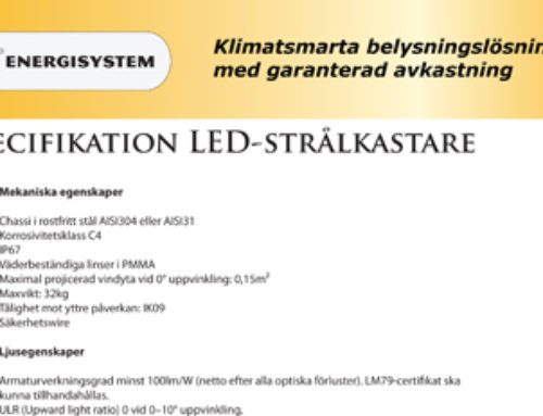 Upphandlingskriterier LED-armaturer