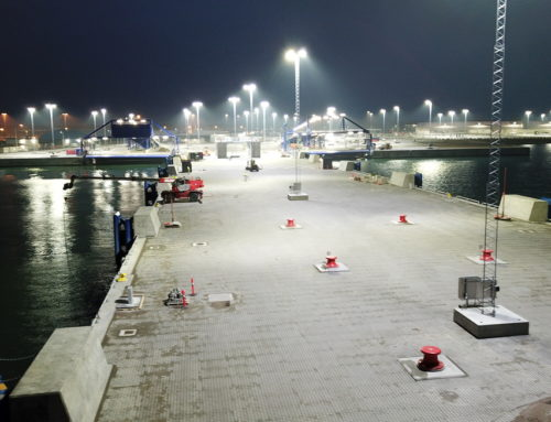 Ystad hamns nya Färjelägen 7 och 8 i slutskedet av entreprenaden