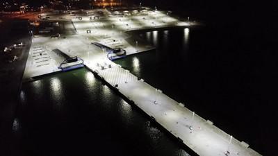 Titan belyser Färjeläge 7 och 8 i Ystad hamn – Segrande belysningslösning i miljardprojektet