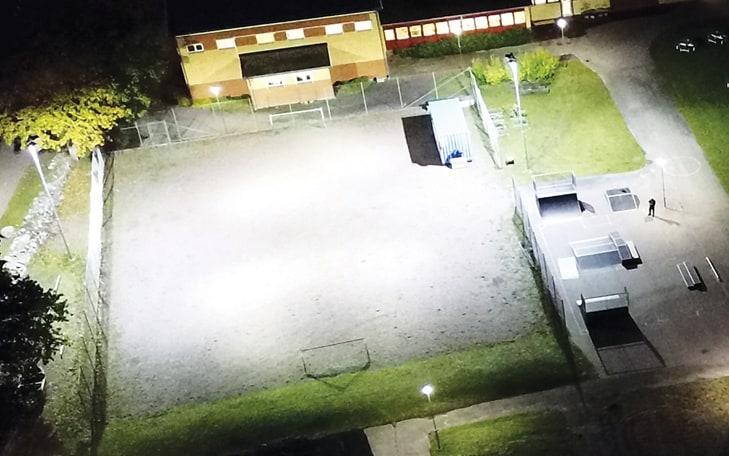 Kalmar kommun belyser Gruvans fotbollsplan med Titan